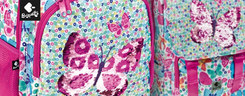 Mochilas escolares Busquets 2020 butterfly